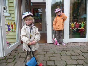 自転車練習の服装